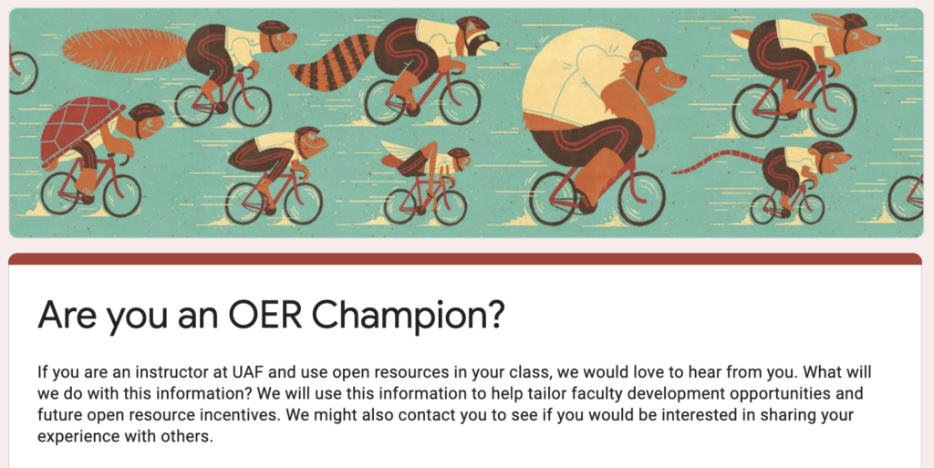 Are you an OER champion?